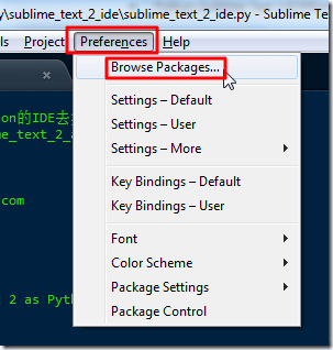 Preferences  Browser Packages