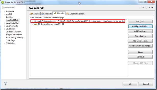 added external antlr complete 3.5 jar lib