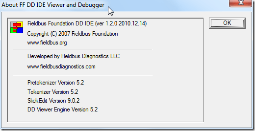 about fieldbus foundation dd ide viewer and debugger