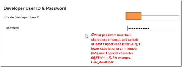 your password must be 8 characters or longer