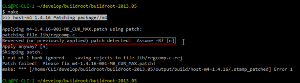 Reversed or previously applied patch detected Assume -R n