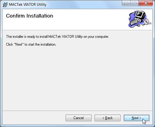 mactek viator utility confirm installation
