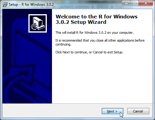 welcome to the R for windows 3.0.2 setup wizard