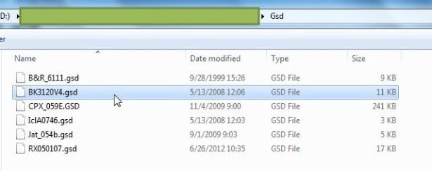 found related bk3120v4 gsd file