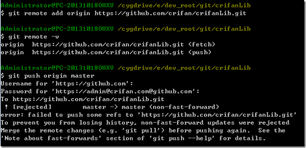 git push origin master error failed to push some refs to