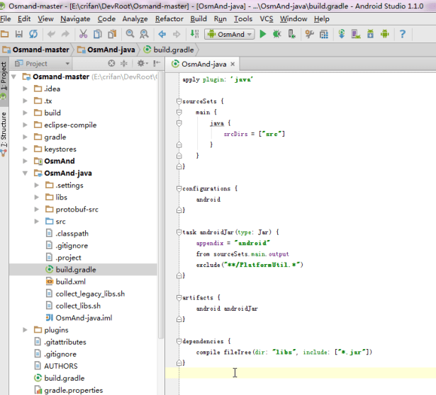 not see lintoption in build.gradle of osmand-java