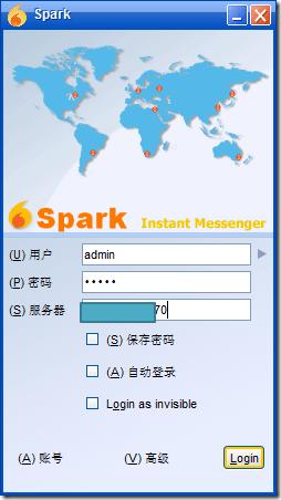 spark login use para