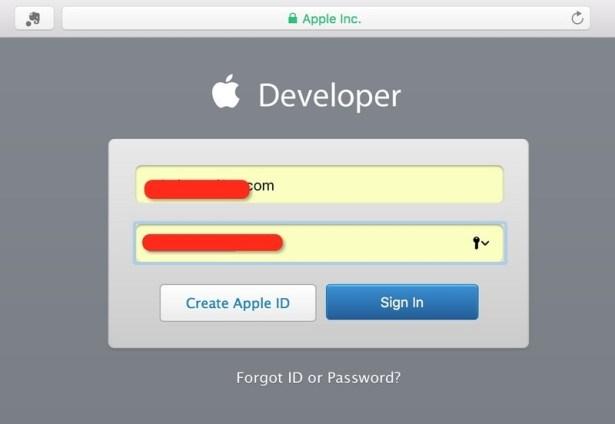 need login as apple id