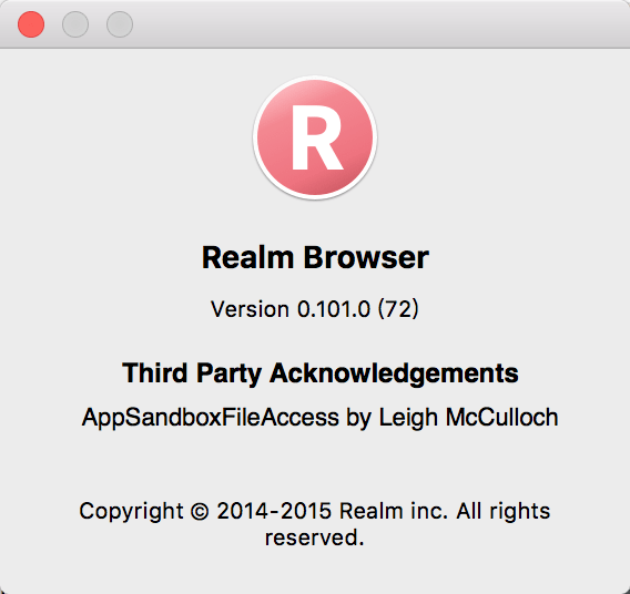 installed realm browser 0.101.0 72