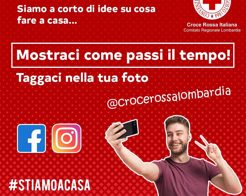 Campagna #STIAMOINCASA di CRI Lombardia