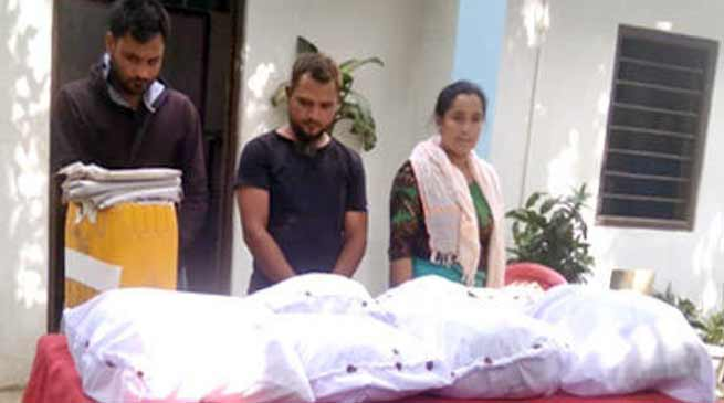 मणिपुर में 100 करोड़ रुपये की ब्राउन शुगर बरामद, तीन गिरफ्तार