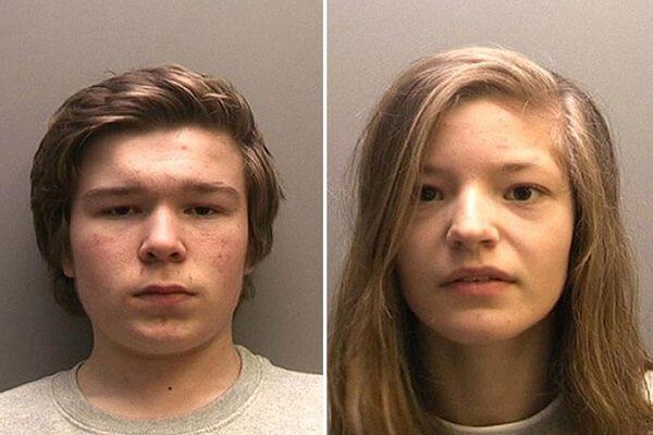 15-year-olds Lucas Markham and Kim Edwards