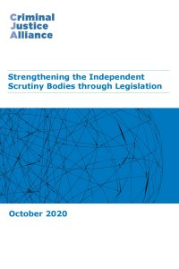 CJA Resource 8 Strengthening Arms Length Bodies consultation response 1 Oct 2020 cover page