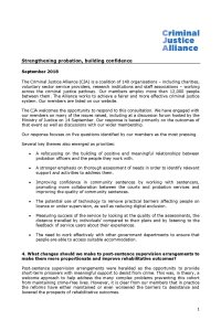 CJA response to Probation Consultation Sep 2018 cover page