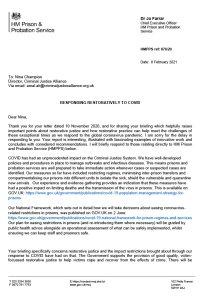 Response to COVID-19 responding restoratively report