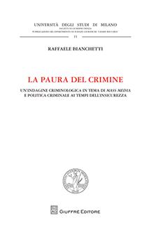 Copertina Libro: La paura del crimine