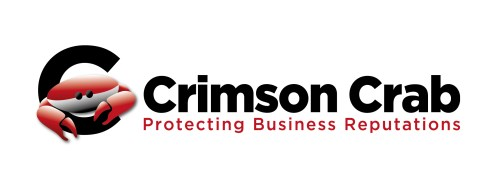Crimson Crab Logo with strapline protecting business reputations