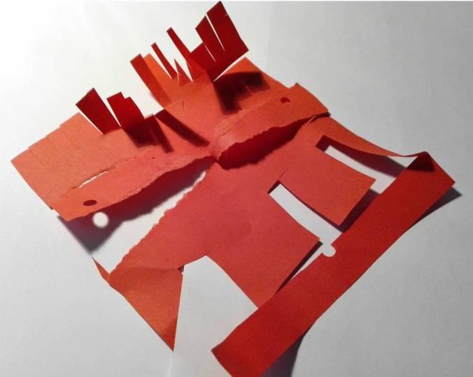 con la carta si possono fare sculture