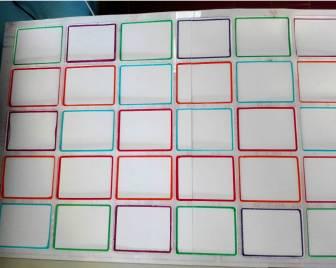 griglia per classificazione carte