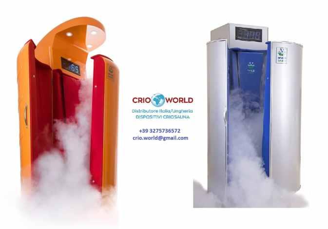 Prezzo costo criosauna Crioworld Vendita Dispositivi Criosauna in Italia - Miglior Qualità/Prezzo criosauna- Esperienza decennale nell'Utilizzo e Vendita