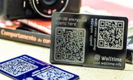 Empresa brasileña Walltime lanza cartera bitcoin en acrílico