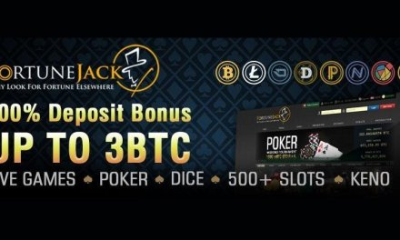 FortuneJack ofrece bono de 3 BTC en depósitos, juegos con asistentes en vivo y más de 400 tragamonedas con bitcoins