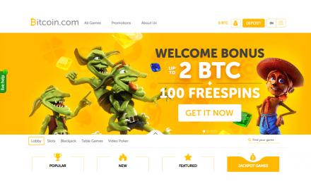 Bitcoin.com lanza Casino Bitcoin con más de 1.000 juegos y bonos en bitcoins gratis