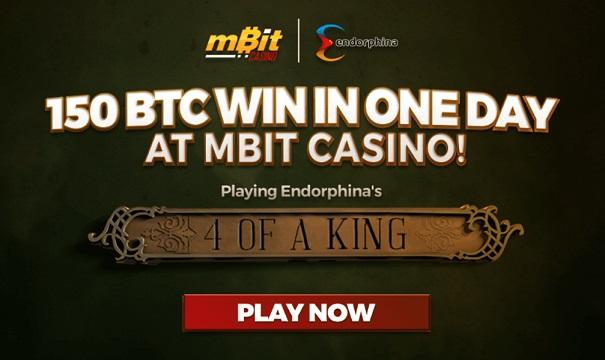 Juego de Endorphina paga más de 150 BTC en mBit Casino