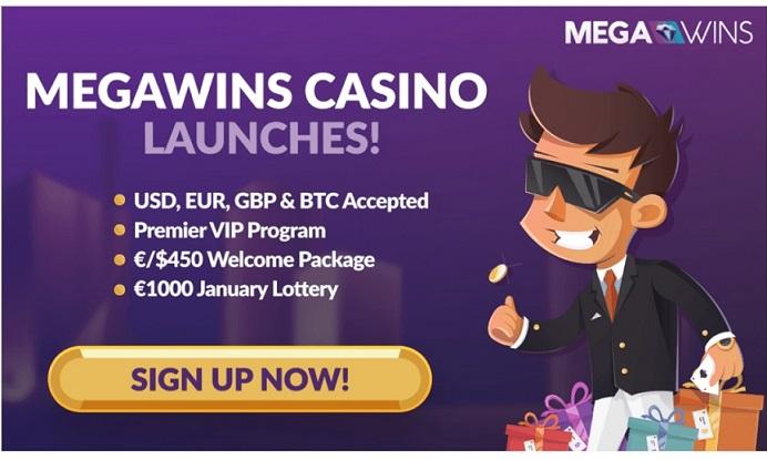 Megawings Casino se lanza con Lotería de € 1.000 y paquete de bienvenida de 3 BTC