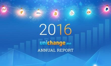 La casa de cambio Bitcoin UniChange publica su informe anual para 2016