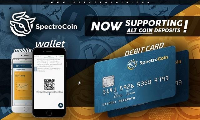 SpectroCoin anuncia soporte de Altcoins para tarjetas de débito Bitcoin
