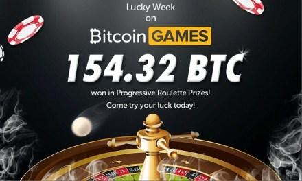 Ruleta progresiva de Bitcoin Games paga premios valorados en 154,32 BTC en solo una semana