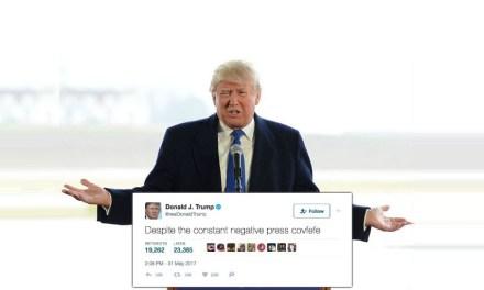 'Covfefe', el error de Donald Trump, es el nuevo miembro de la economía de los memes