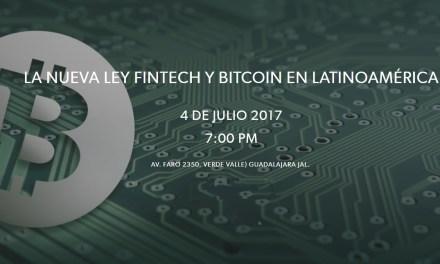 Guadalajara discutirá sobre Ley FinTech y Bitcoin en Latinoamérica