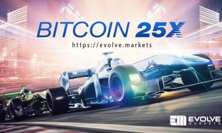 Evolve Markets, plataforma de trading, anuncia un aumento en el apalancamiento de Bitcoin en 25X