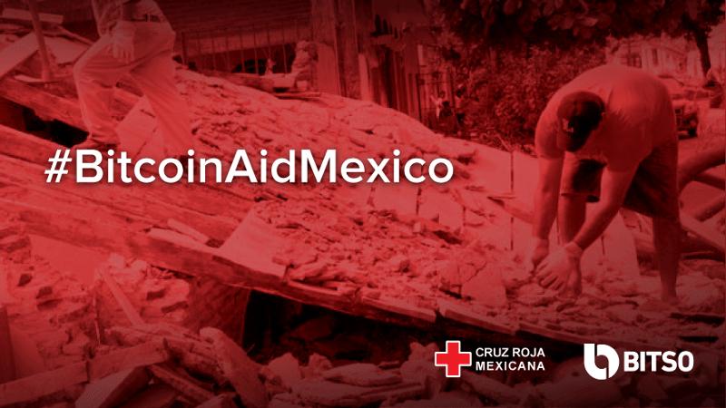 Bitso habilita donaciones en bitcoin para las víctimas del terremoto de México