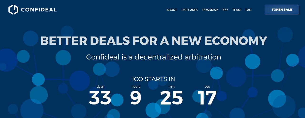 Confideal, la Plataforma para hacer tratos y arbitraje descentralizado, anuncia ICO