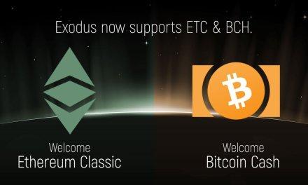 Exodus añade Bitcoin Cash y Ethereum Classic al portafolio de su cartera de criptoactivos