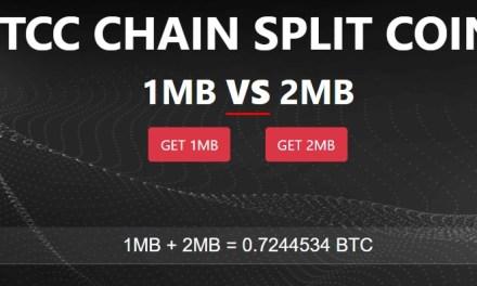 BTCC habilita intercambios con potenciales monedas que surgirían tras bifurcación de SegWit2x