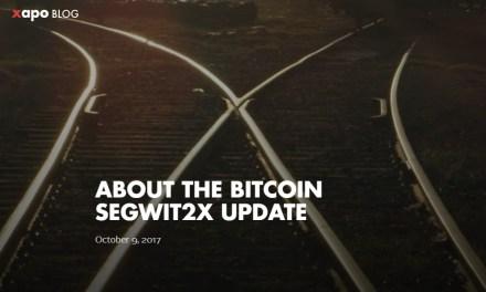 Xapo se pronuncia respecto a SegWit2X