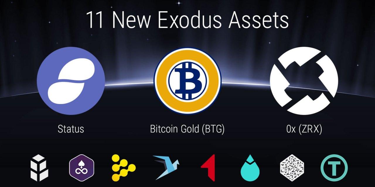 Exodus añade 11 nuevas altcoins pero no avanza en adopción de SegWit