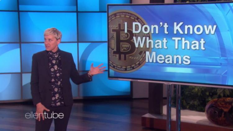 Bitcoin llega a millones de espectadores en el programa televisivo Ellen DeGeneres Show