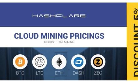 HashFlare ofrece minería de nube más barata de Bitcoin y Scrypt con un 5% de descuento