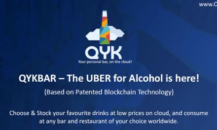 Startup QYK, bar virtual, utilizará tecnología blockchain patentada para crear disrupción en la industria del alcohol