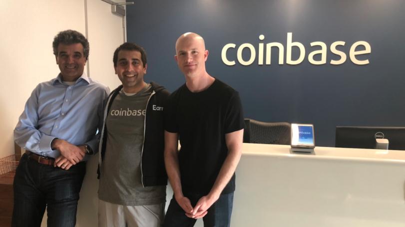 Coinbase nombra nuevo Director de Tecnología y anuncia adquisición de Earn.com