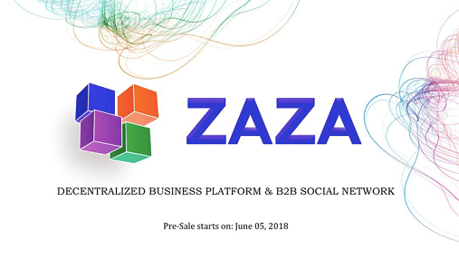 ZAZA, Optimizador de actividad empresarial y red social B2B, anuncia preventa de su token