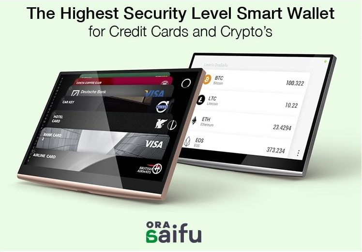 Monedero de hardware multi criptomoneda vanguardista de OraSaifu a punto de llegar al mercado
