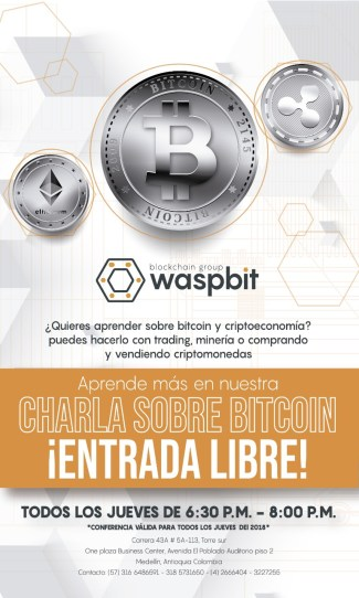 Chat-cryptocurrencies-Waspbit-Medellin&quot; width = &quot;325&quot; height = &quot;542&quot; data-recalc-dims = &quot;1&quot; /&gt; </noscript> </p> <p> For clarification all these questions comes to Medellín (Colombia) <strong> Waspbit Blockchain Group </strong> (formerly Invercoin Trading), a company of professionals who will teach you everything related to the evolution of money and what is known as &quot;The cryptoeconomy&quot;, including topics such as trading, mining, purchase and sale of cryptocurrencies and the next prepaid cards with Bitcoin and Ethereum, among others. </p> <p> To do this, they will be made from <strong> this Thursday, July 12 to 6:30 in the afternoon </strong> a cycle of weekly talks, with free admission. The first one will be a talk about the virtual currencies, their origin, their operation and all their advantages, in one of the most exclusive places of the Medellin business area: The One Plaza Business Center (complete address below). <strong> The quotas are limited. </strong> </p> <p> With the first talk of this Thursday, which will be repeated every Thursday of the year, Waspbit wants to create a weekly meeting point with the cryptocurrency in Medellin, to give the opportunity to everyone interested in this exciting topic of interacting with experts and acquiring the basic skills to handle these decentralized assets. Those interested in attending these Waspbit talks must complete the following Registration Form: </p> <p> <em> <strong> Complete address: </strong> One Plaza Business Center, South Tower, Auditorium Floor 2. El Poblado Avenue , Carrera 43A # 5A &#8211; 113. Contact: 316 6486591 &#8211; 318 5731650 &#8211; (4) 2666404. </em> </p> <p> Website: http://www.waspbit.com/</p> <p>Facebook : facebook.com/waspbitgroup/</p> <p>Twitter: https://twitter.com/waspbit</p> <p>Instagram: https://www.instagram.com/waspbit/</p> <hr/> <p> <em> <strong> Disclaimer: </strong> This press release is for informational purposes only, the information does not constitute investment advice or an offer to invest. CriptoNoticias is not responsible for the products and / or services described. </em> </p> </p></div> <p> <script async src=
