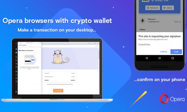 Opera lanza versión beta de navegador web con cartera de Ethereum integrada