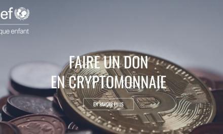 UNICEF Francia comienza a aceptar donaciones en criptomonedas